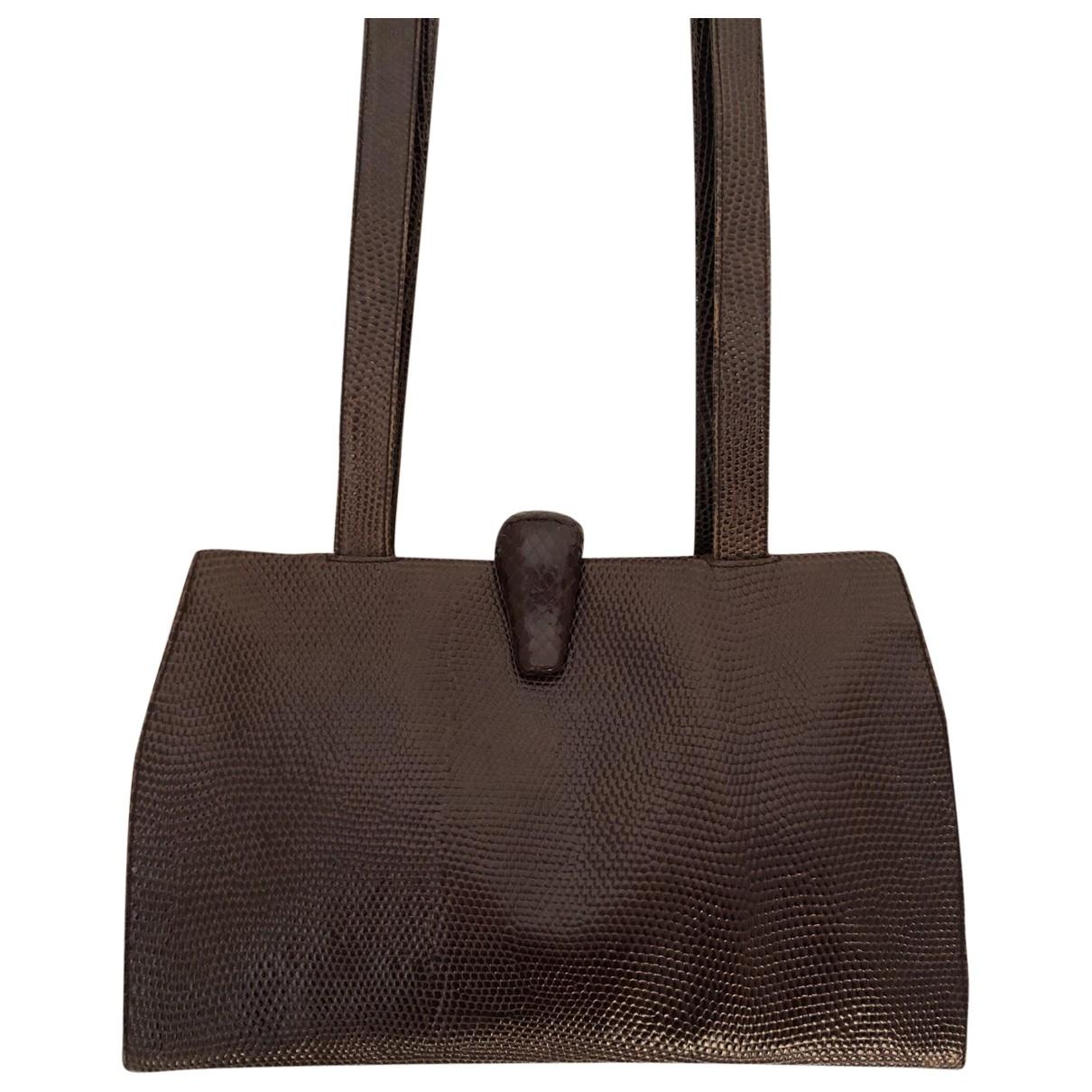 Prada \N Handtasche in  Braun Python
