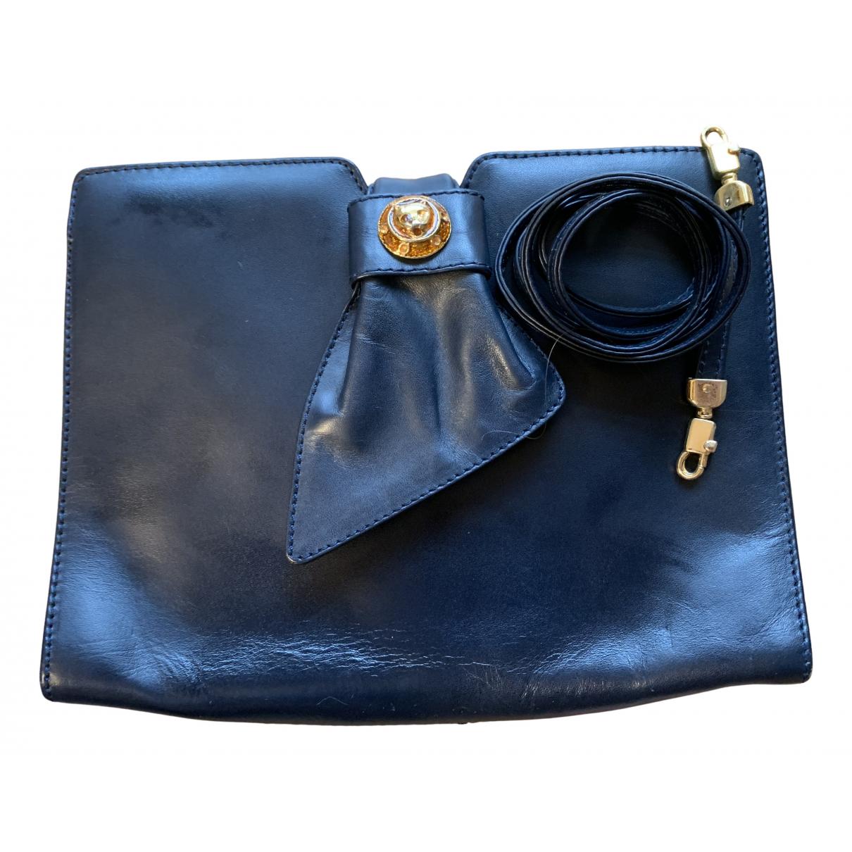 - Pochette   pour femme en cuir - bleu