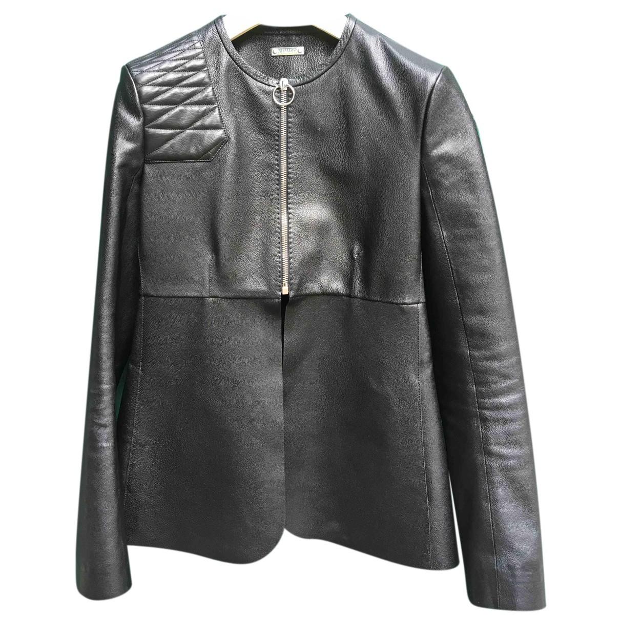 Bally - Veste   pour femme en cuir - noir