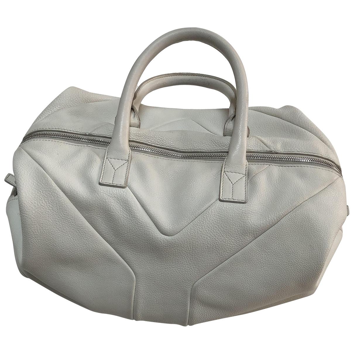 Yves Saint Laurent - Sac a main Easy pour femme en cuir - blanc