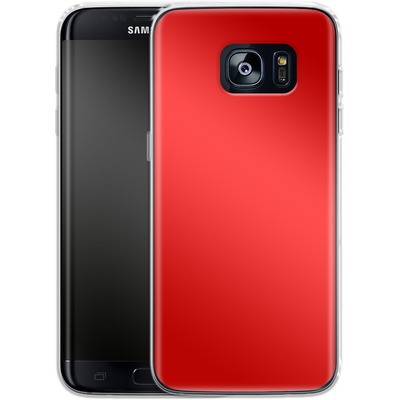 Samsung Galaxy S7 Edge Silikon Handyhuelle - Test Red von caseable Designs