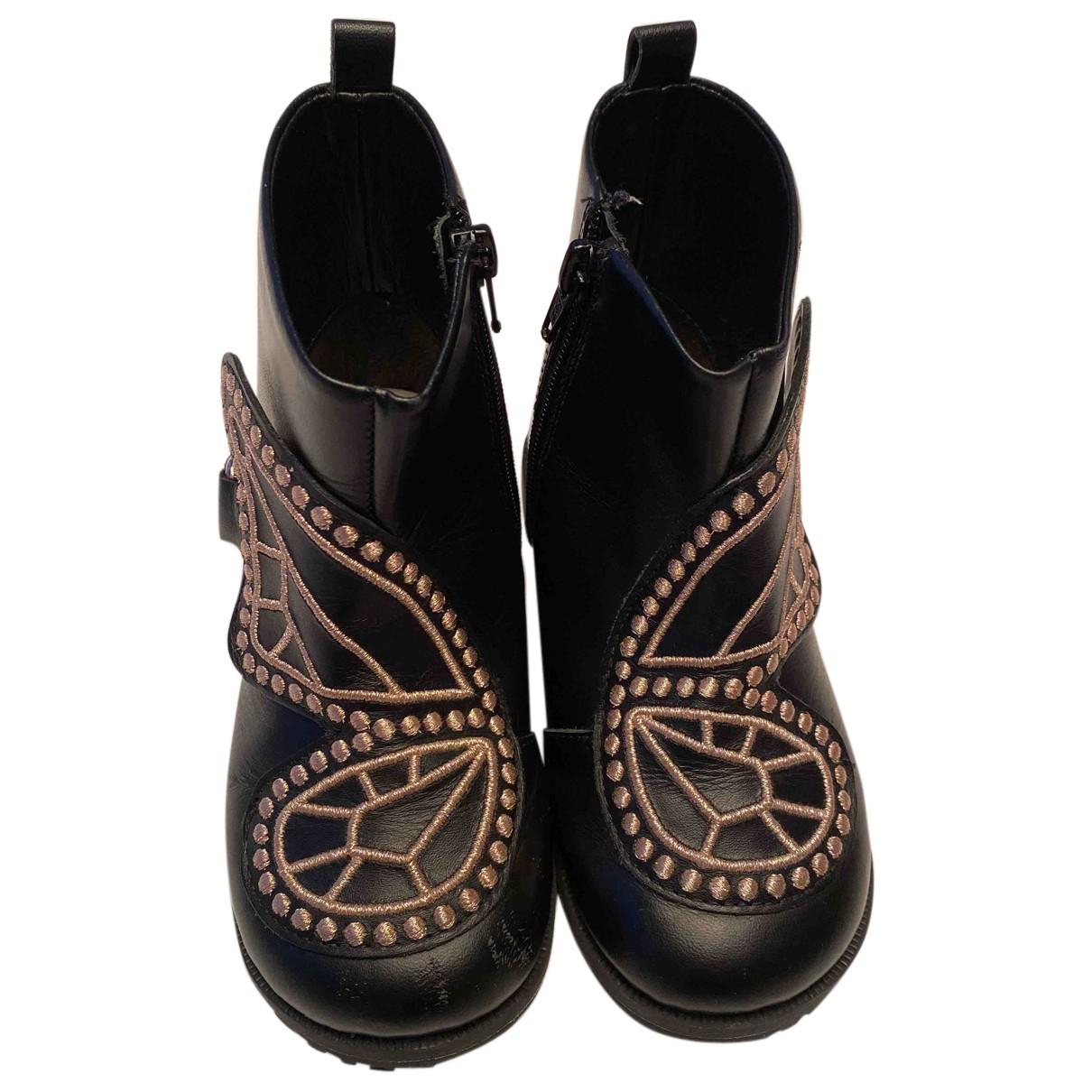 Sophia Webster N Black Leather Boots for Kids 27 FR