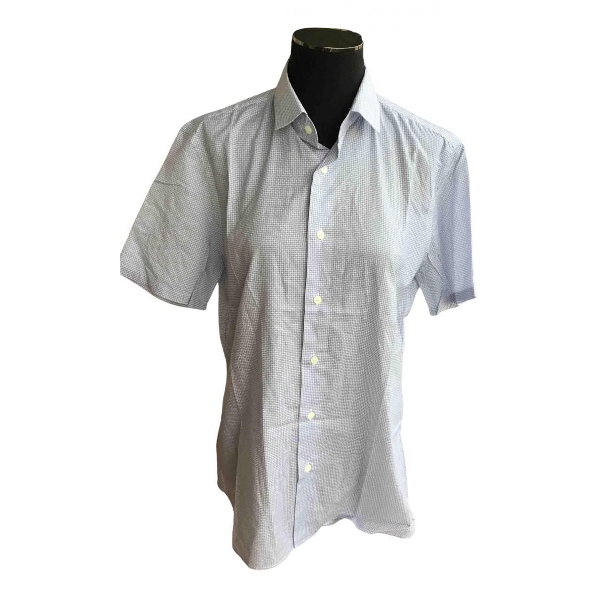 Prada \N Blue Cotton Shirts for Men 15.5 UK - US (tour de cou / collar)