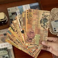 60 Blaetter Zufaelliges Kraftpapier mit Vintage Muster