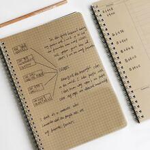 1 Stueck Spiral-Notizbuch mit zufaelligem Muster