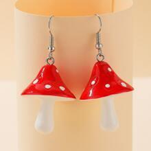 Mushroom Drop Earrings