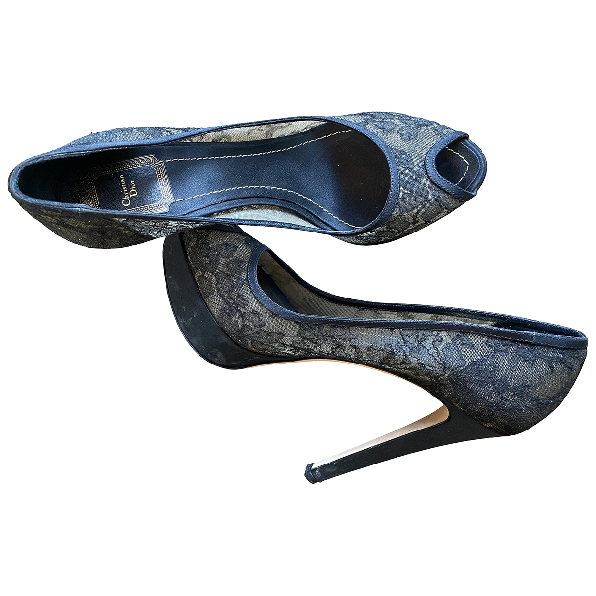 Christian Dior \N Black Leather Heels for Women 40 EU