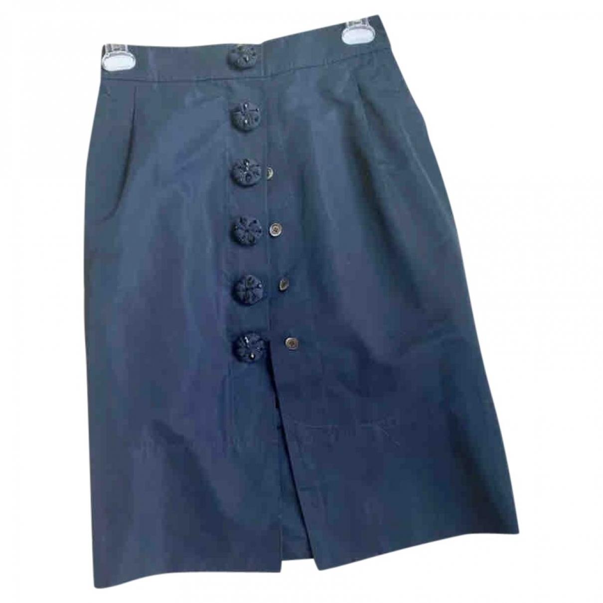Louis Vuitton - Jupe   pour femme en soie - bleu