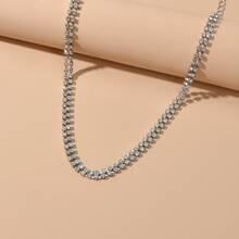 Rhinestone Decor Necklace