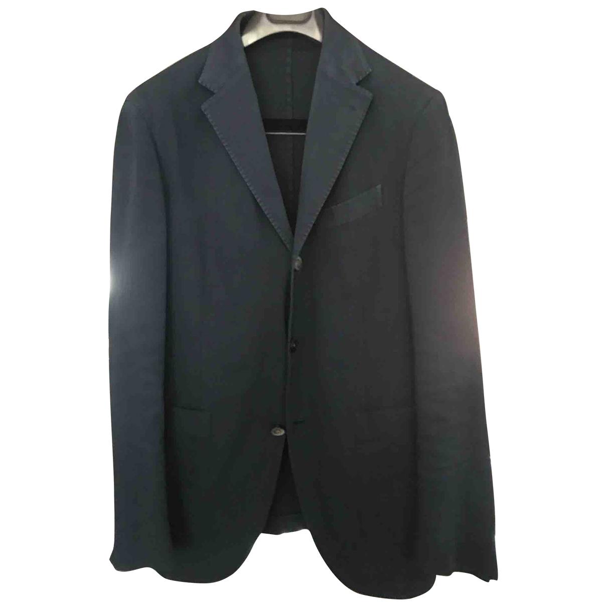 Boglioli \N Navy Cotton jacket  for Men 48 IT