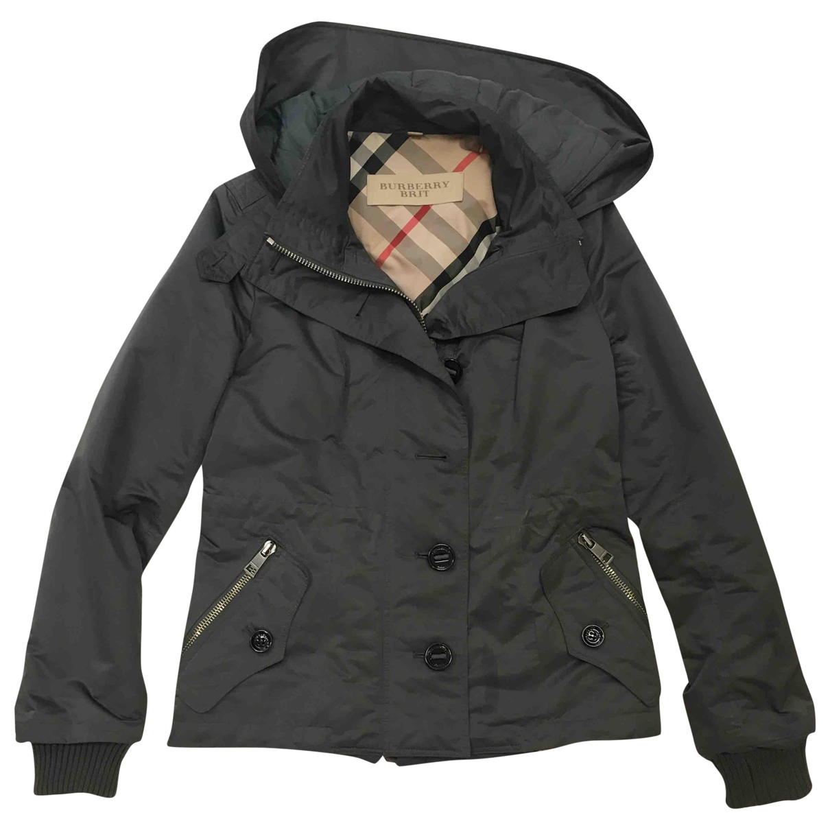 Burberry \N Jacke in  Anthrazit Polyester