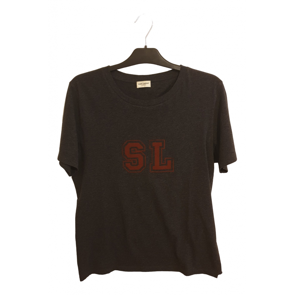 Saint Laurent - Tee shirts   pour homme en coton - gris