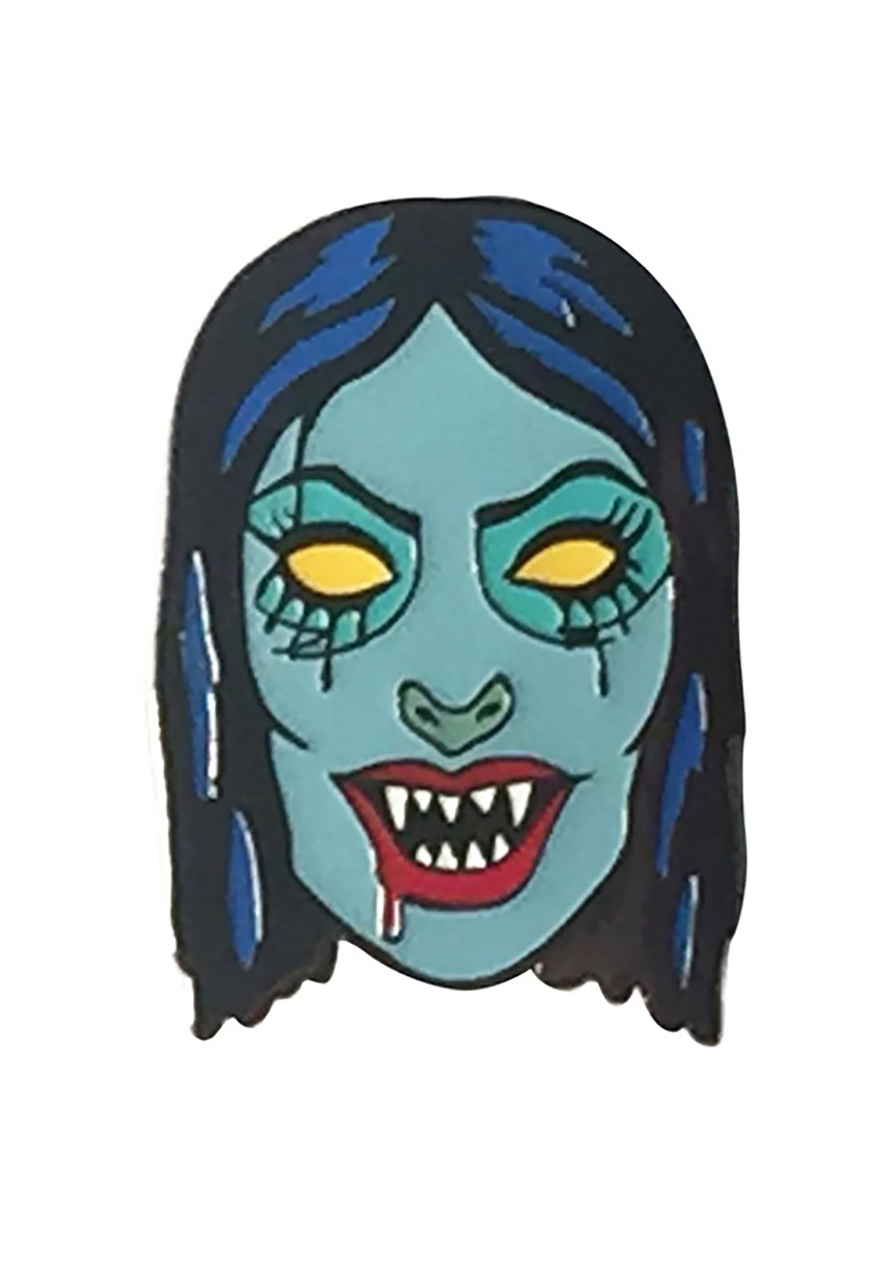 Ghoulsville Vampyra Girl Halloween Enamel Pin