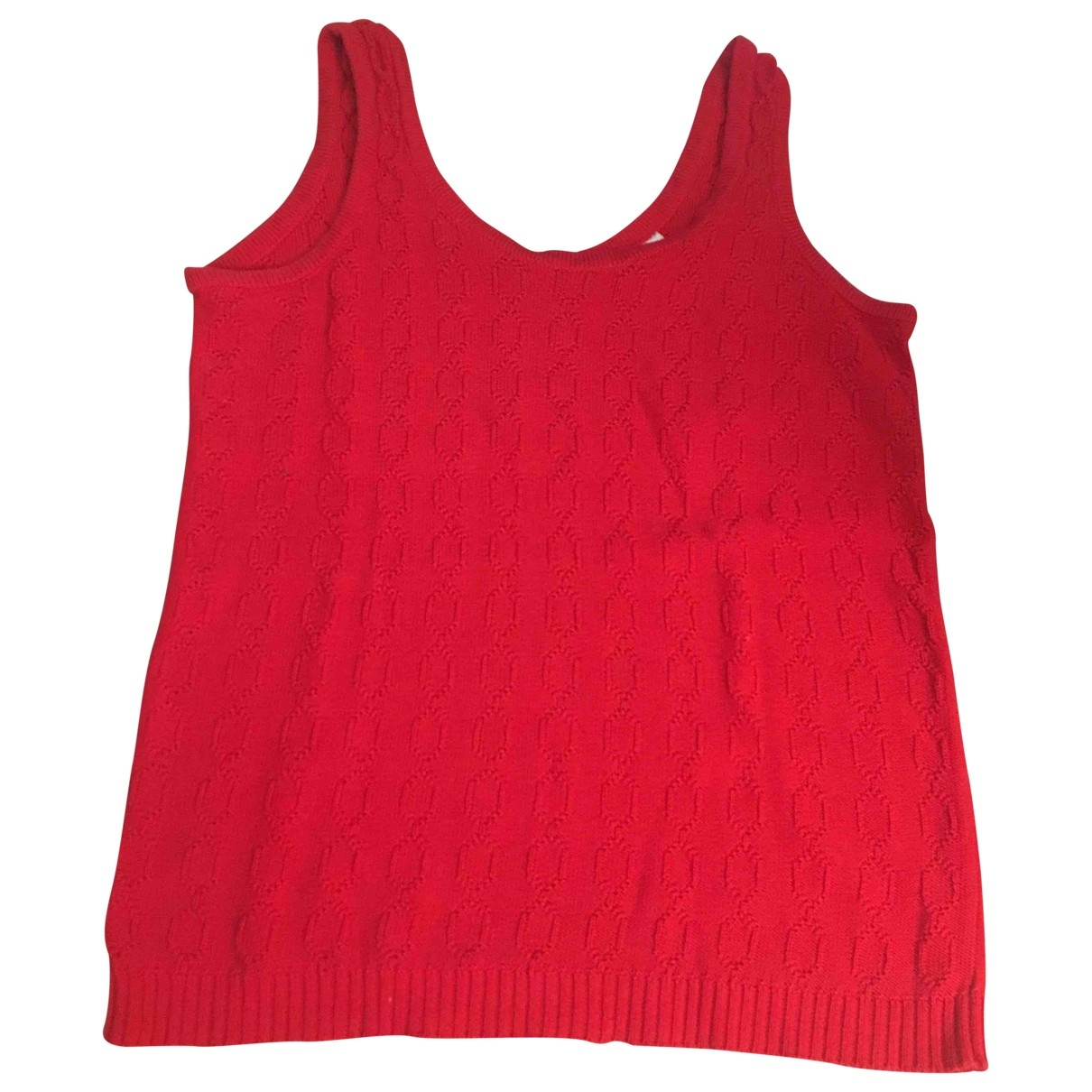 Celine \N Red Cotton  top for Women 40 FR