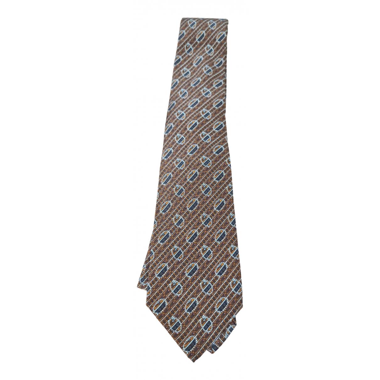 Yves Saint Laurent - Cravates   pour homme en soie - marron