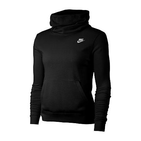Nike Womens Hooded Neck Long Sleeve Hoodie, X-small , Black