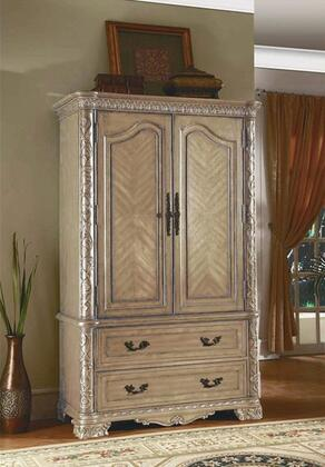CA7904TV Cannes 2 Drawer TV Armoire in Whitewash