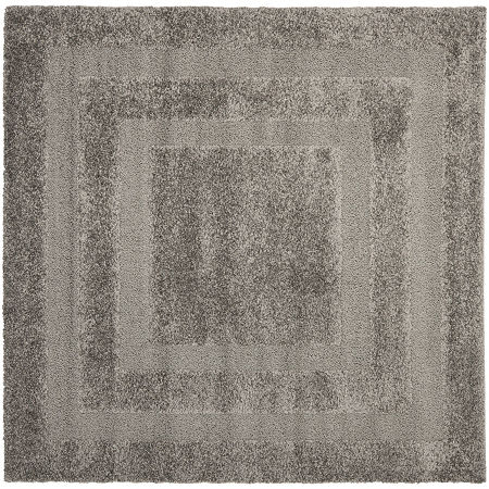 Safavieh Shag Collection Smith Solid Square Area Rug, One Size , Gray