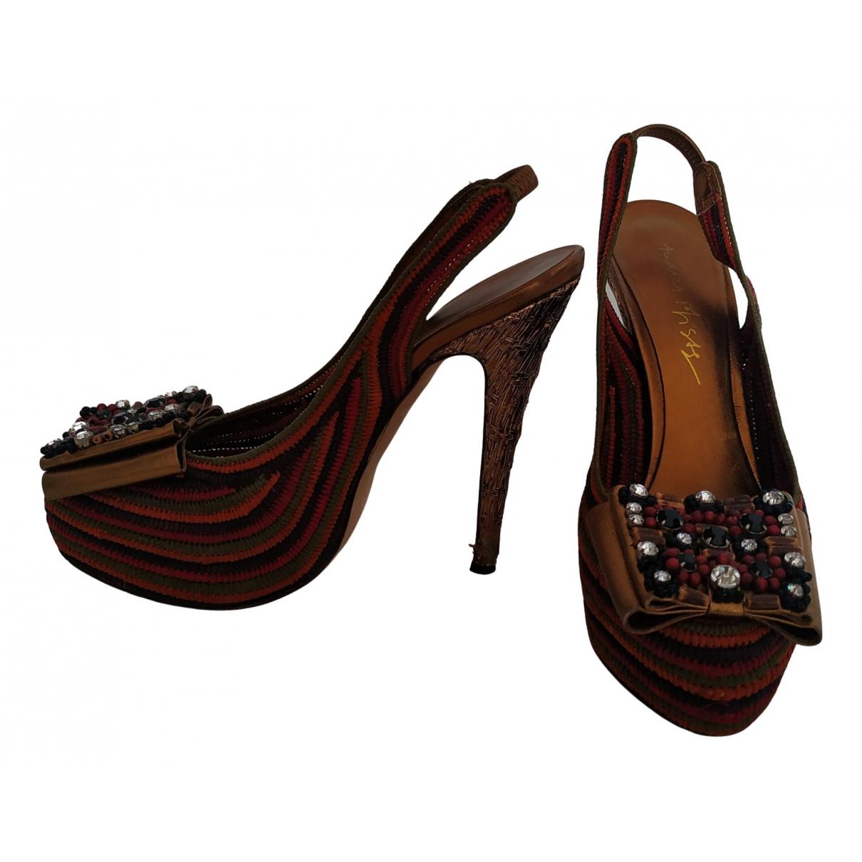 Andrea Pfister N Multicolour Cloth Heels for Women 37 EU