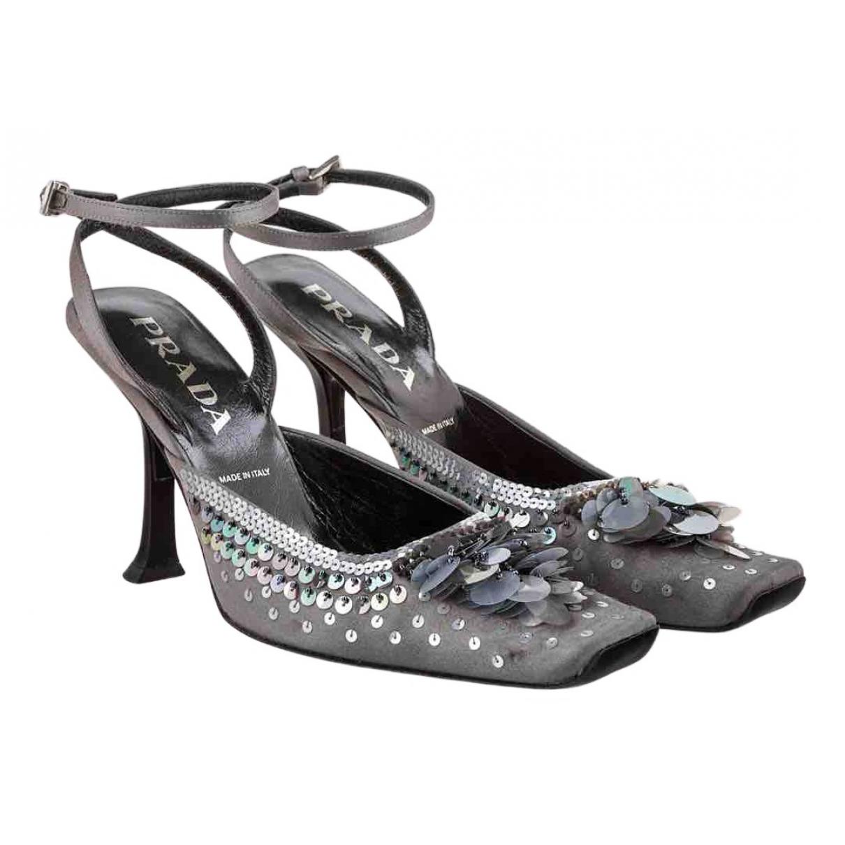 Prada \N Grey Cloth Heels for Women 37 EU