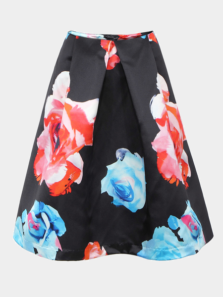 Yoins A-line & Full Skirt In Floral Print