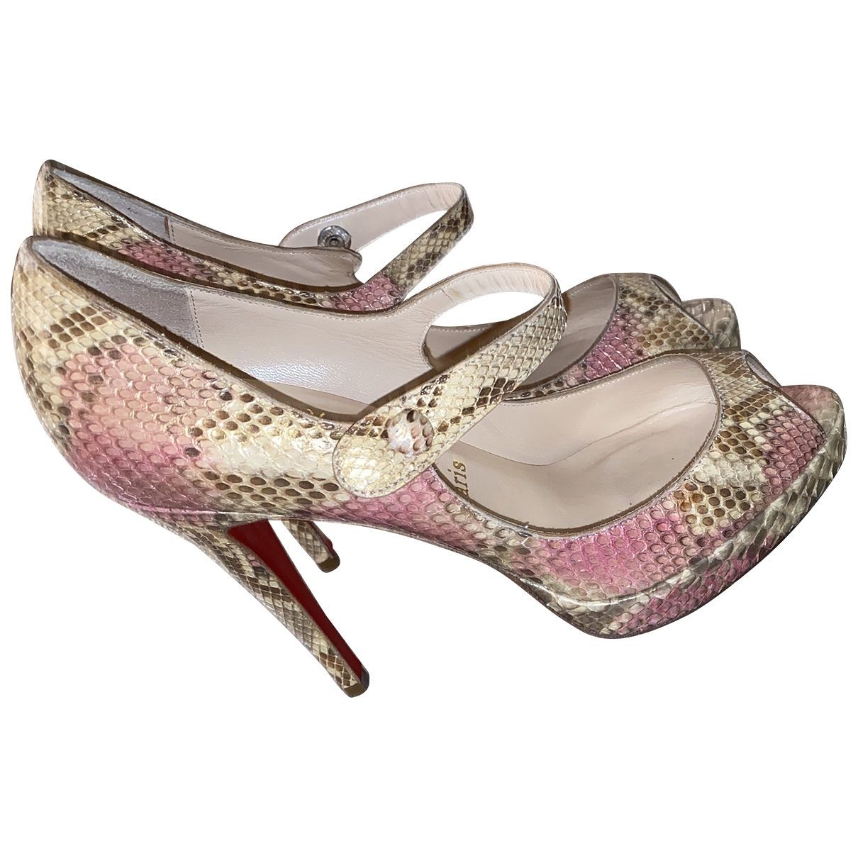 Tacones Very Prive de Piton Christian Louboutin