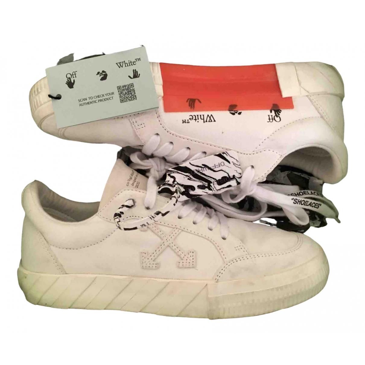 Off-white - Baskets Vulcalized pour femme en suede - blanc