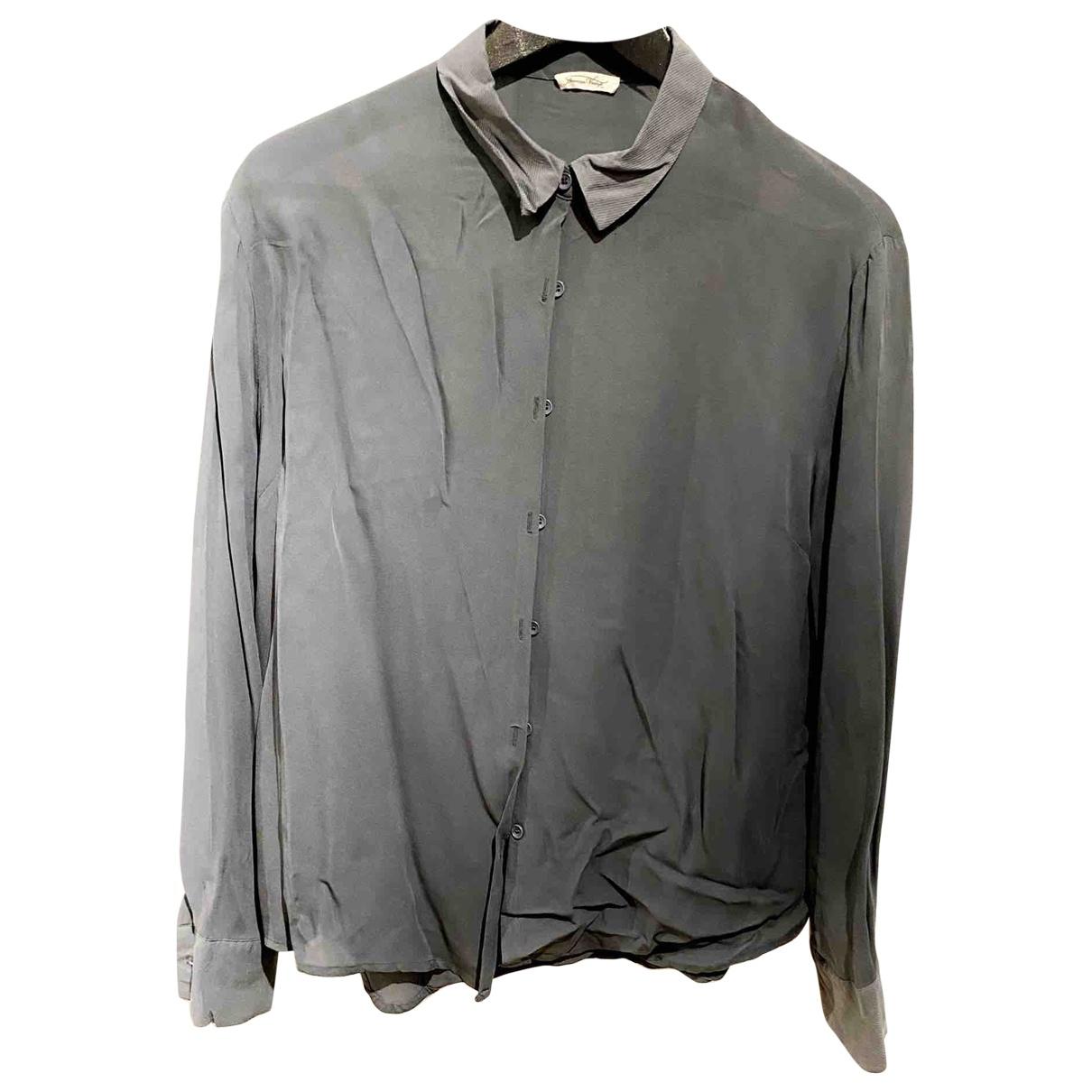 American Vintage - Top   pour femme en coton - gris