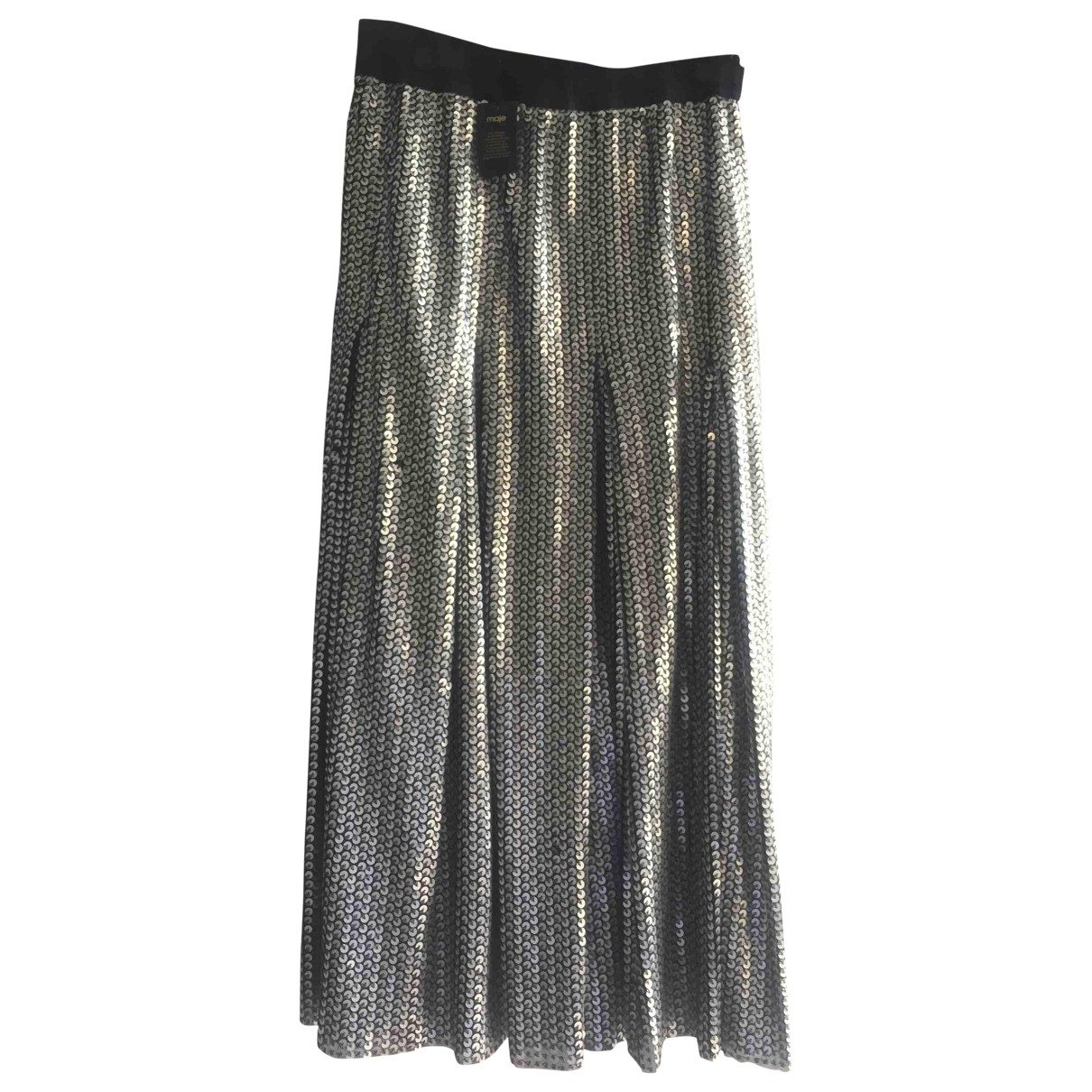 Maje N Silver Glitter skirt for Women 36 FR