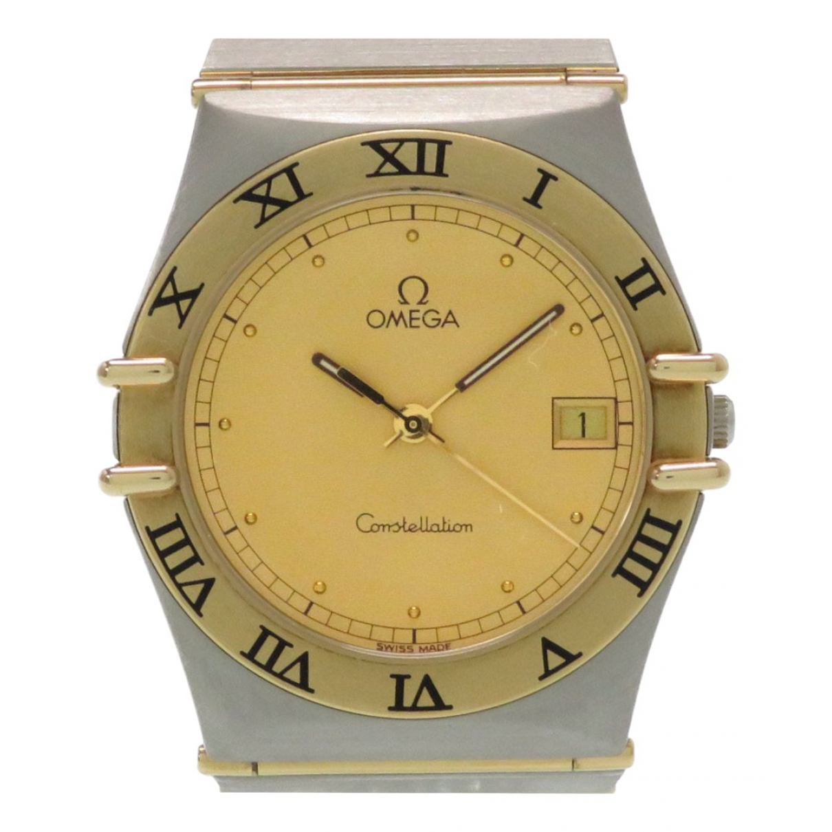 Omega Constellation Gold gold and steel watch for Women \N