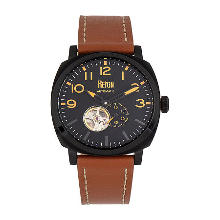 Reign Mens Automatic Brown Leather Strap Watch-Reirn5805, One Size , No Color Family