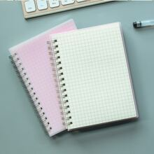 1 Stueck Spiral-Notizbuch mit Gitter Muster