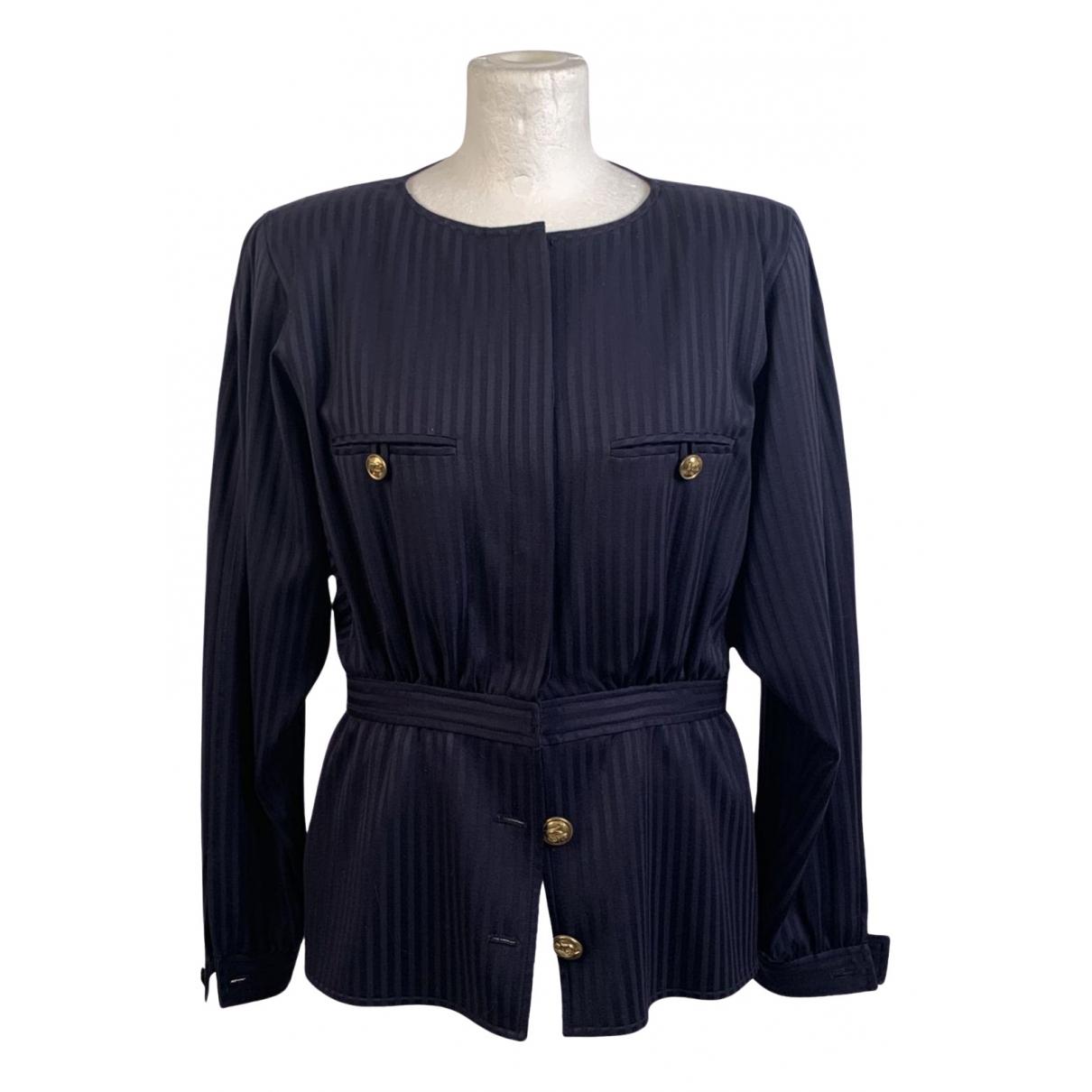 Valentino Garavani - Top   pour femme en laine - bleu