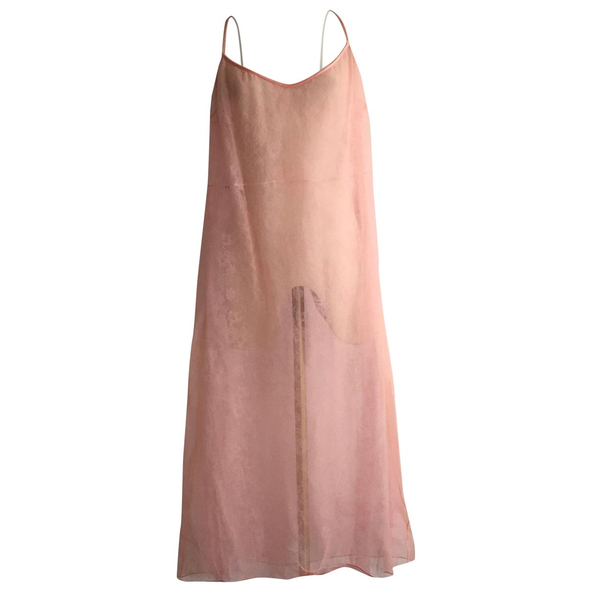 Rochas \N Pink Silk dress for Women 50 IT