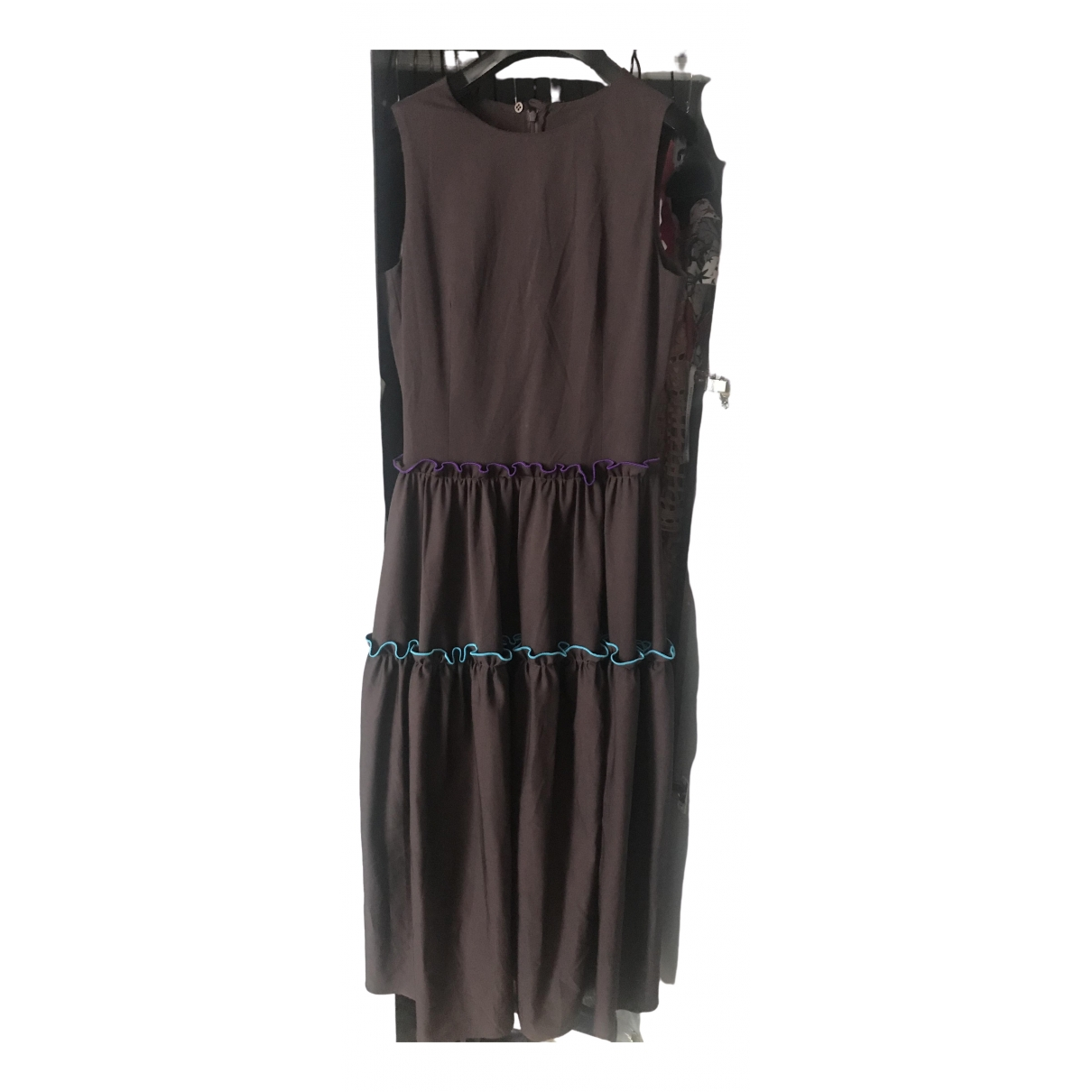 Emporio Armani \N Brown Cotton - elasthane dress for Women 40 IT