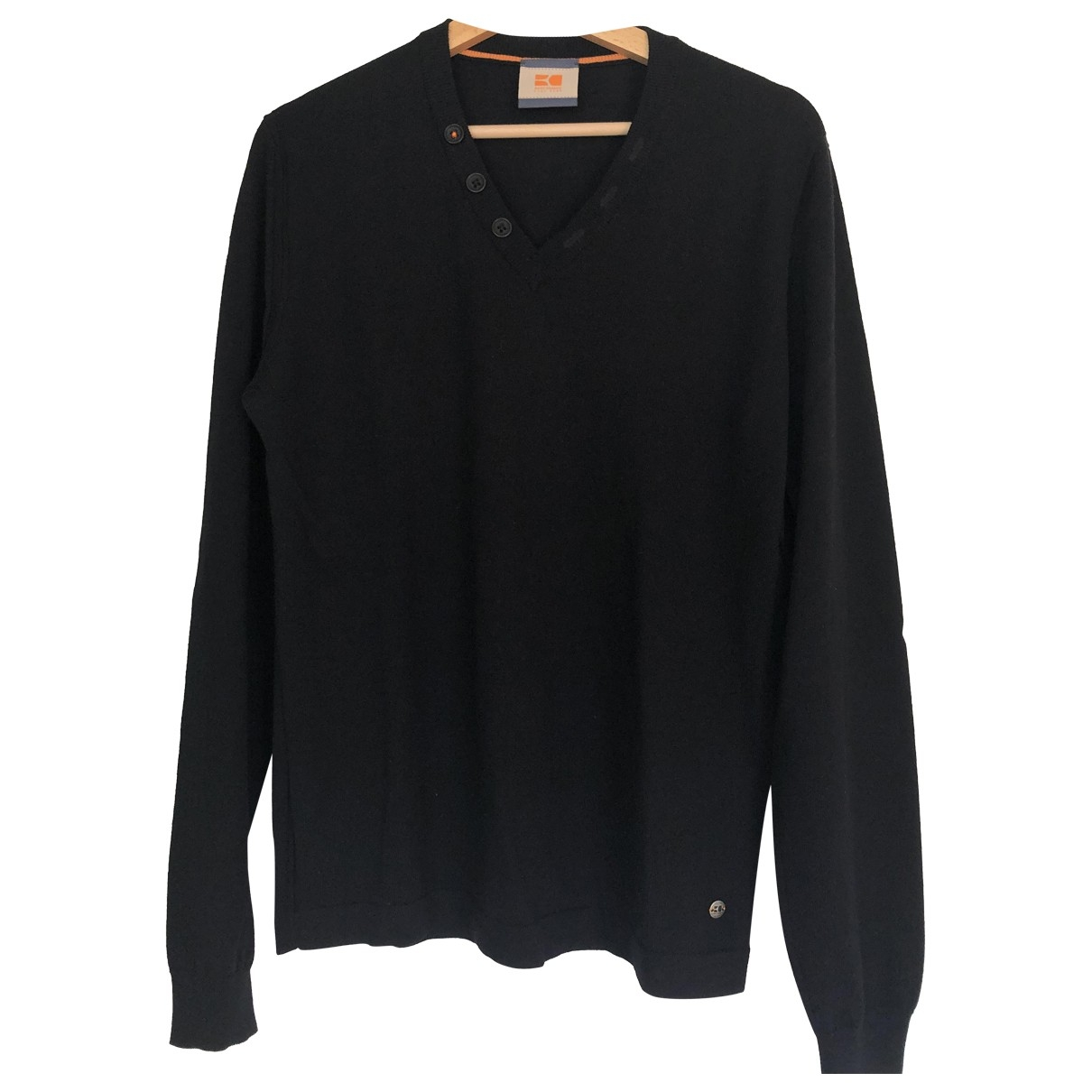 Boss Orange \N Pullover.Westen.Sweatshirts  in  Schwarz Wolle