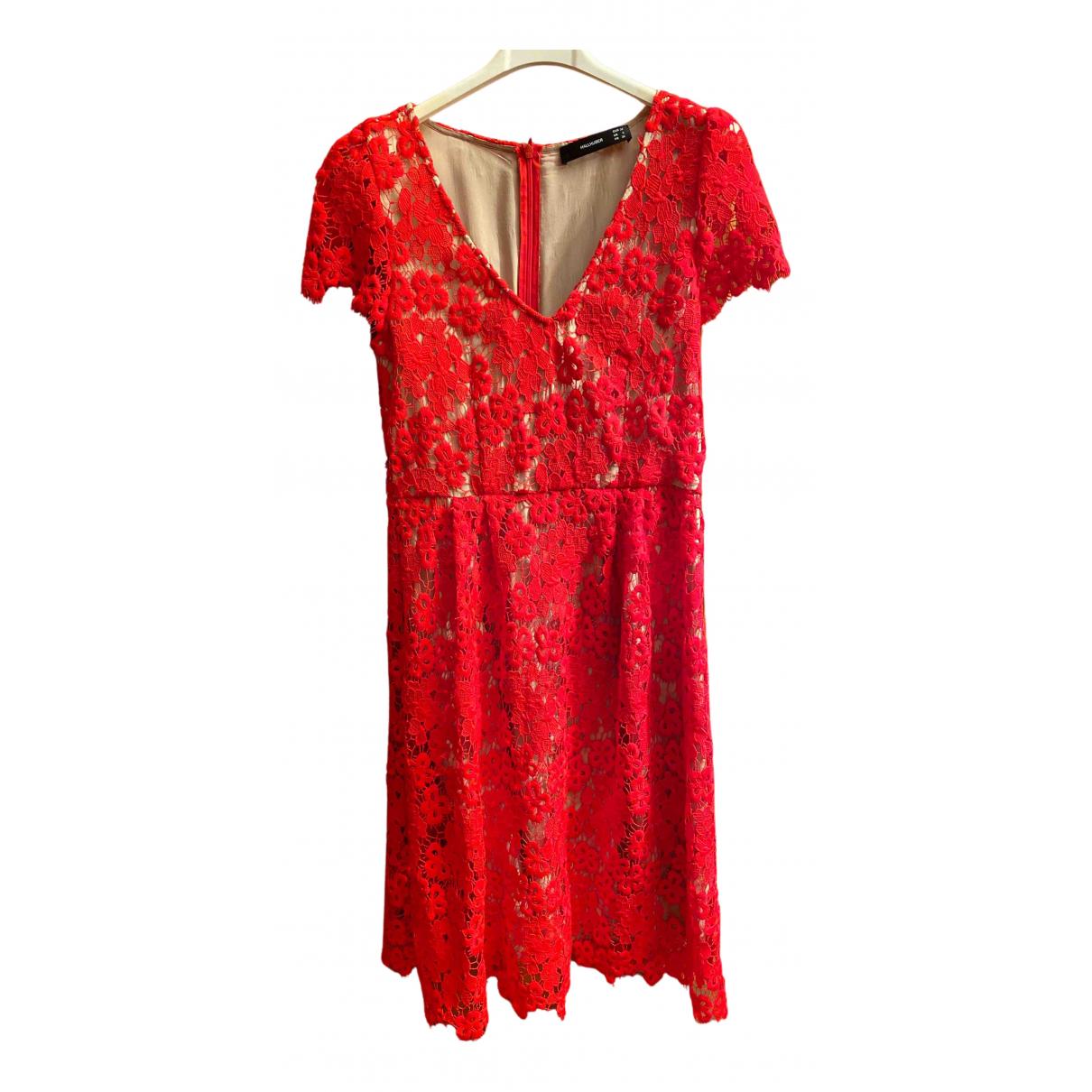 Hallhuber \N Kleid in  Rot Polyester