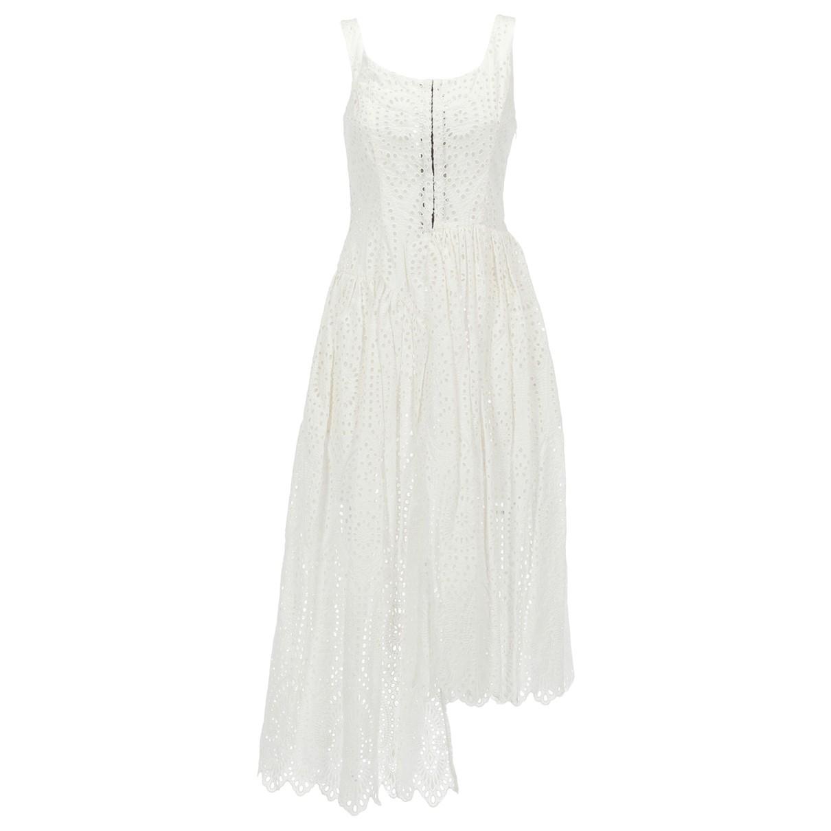 Isa Arfen \N Kleid in  Weiss Baumwolle