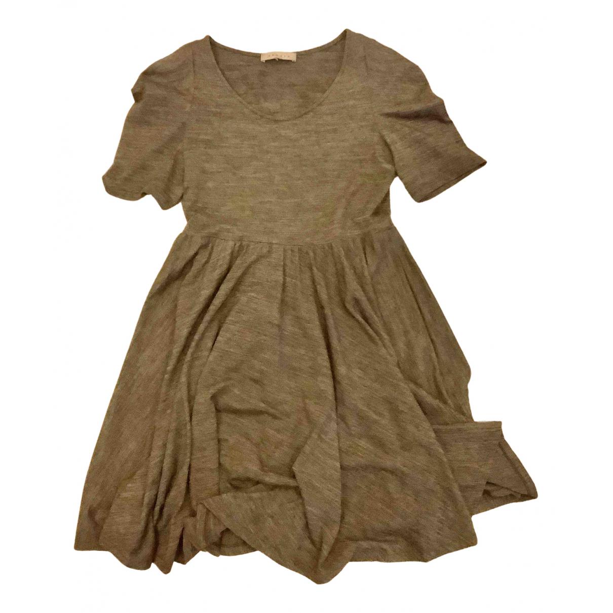 Sandro \N Kleid in  Grau Wolle
