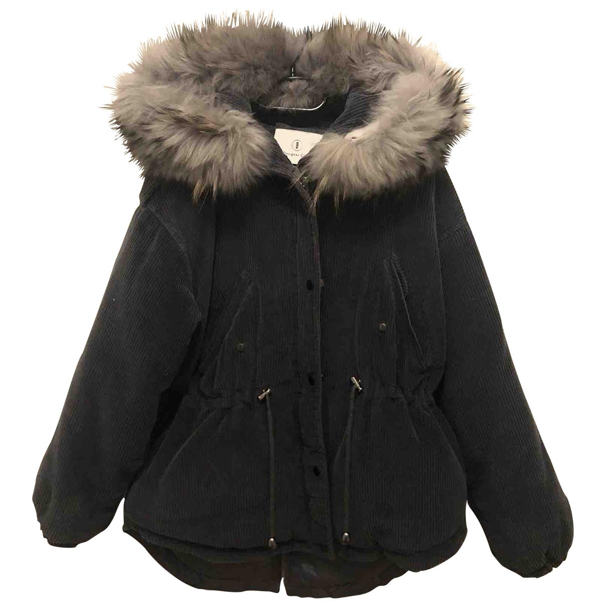 - Manteau   pour femme en velours - vert
