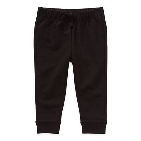 Okie Dokie Baby Boys Cuffed Pull-On Pants, 6 Months , Black