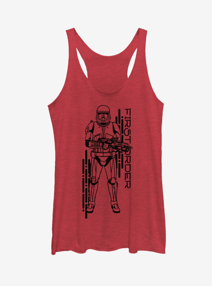 Star Wars Episode IX The Rise Of Skywalker Project Red Womens Tank Top