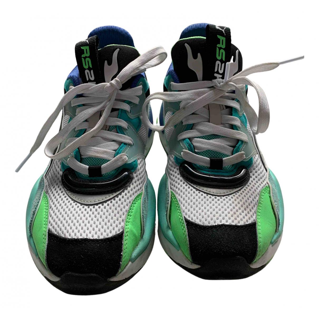 Puma \N Sneakers in  Gruen Leinen