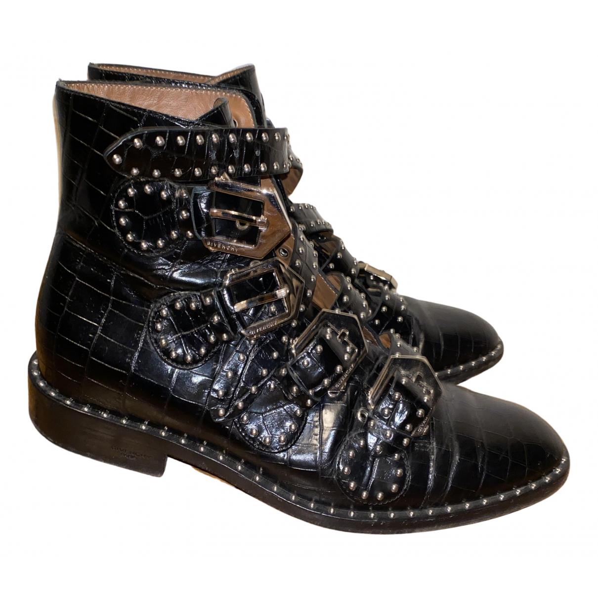 Givenchy - Boots   pour femme en cuir - noir