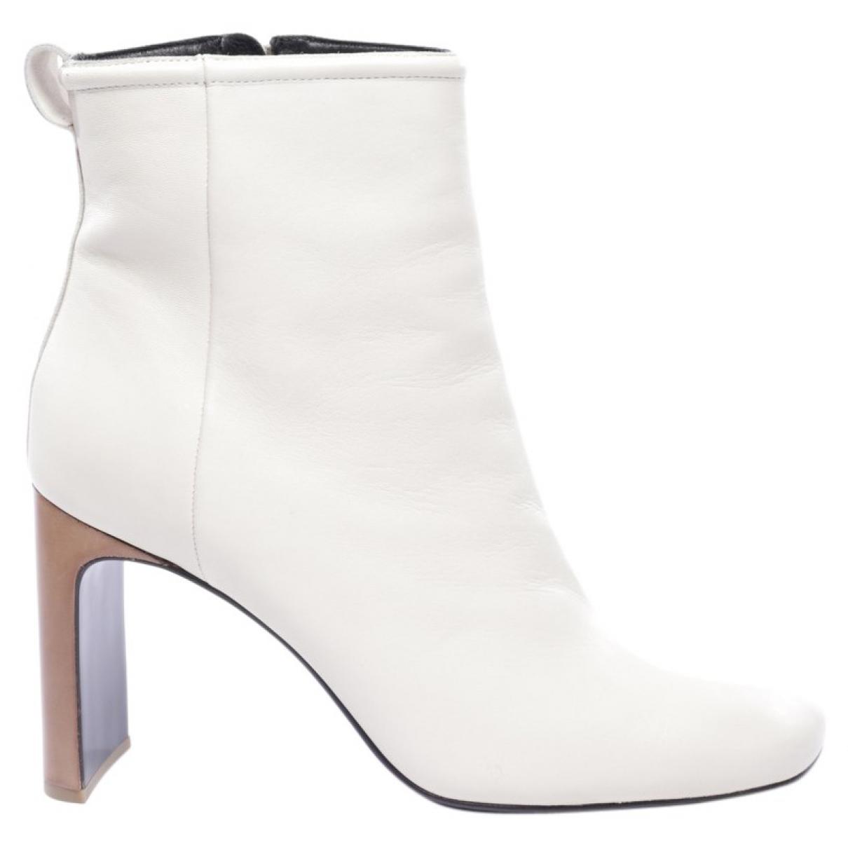 Rag & Bone \N White Leather Ankle boots for Women 40 EU