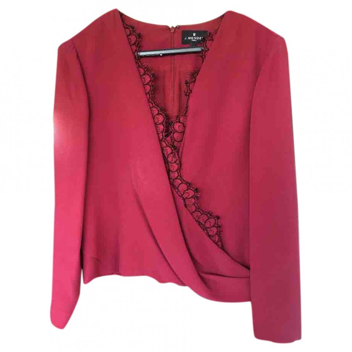 J.mendel \N Burgundy Silk  top for Women 6 US