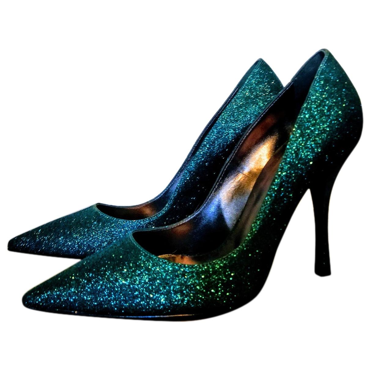 Dsquared2 - Escarpins   pour femme en a paillettes - turquoise