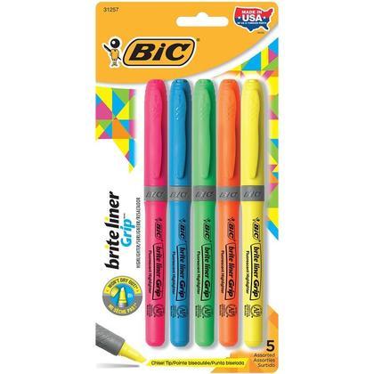 BiC@ Brite Liner@ Grip Fluorescent surligneur - Multicolore