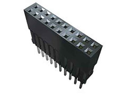 Samtec , ESQ 2.54mm Pitch 10 Way 1 Row Vertical PCB Socket, Through Hole, Solder Termination