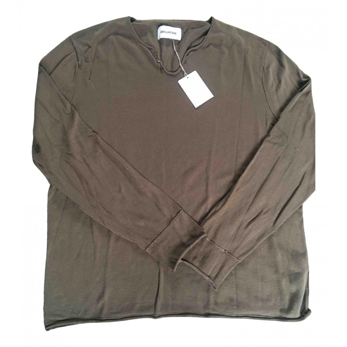 Zadig & Voltaire - Pulls.Gilets.Sweats   pour homme en coton - kaki